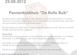 Kemna Interim - Flyer borrel