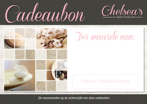 Chelseas Beautysalon - Cadeaubon 1