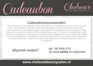 Chelseas Beautysalon - Cadeaubon 2