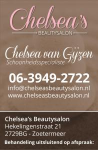 Chelseas beautysalon - Visitekaartje